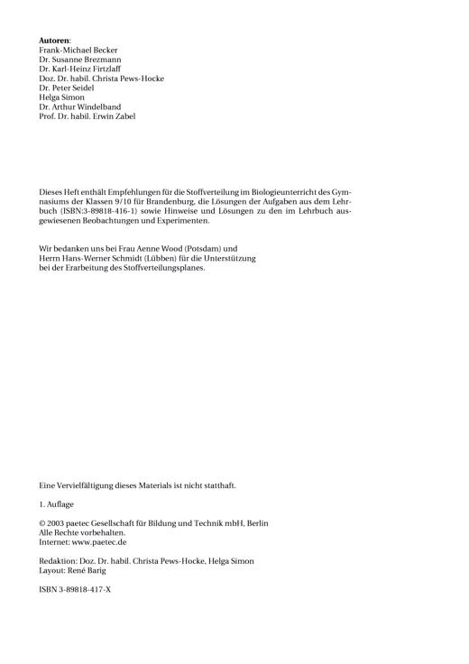 """Komplettes Heft """"Biologie 9/10"""", Gymnasium, Brandenburg als Download (alt) - Didaktische Fachinfo - Webshop-Download"""