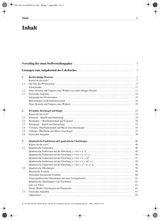 Link Mathematik - Lösungen zum Lehrbuch und zum Arbeitsheft - 9. Schuljahr