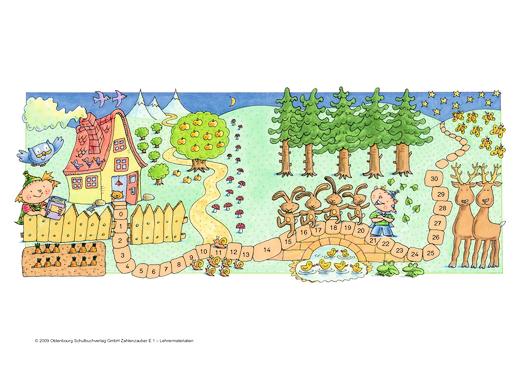 Zahlenzauber - Zahlenzauber - Im Zauberwald - Präsentationshilfe - 1. Schuljahr
