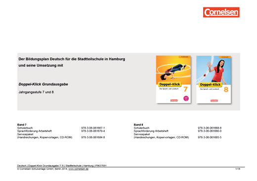 Doppel-Klick - Planungshilfe für Stadtteilschulen in Hamburg - 7./8. Schuljahr