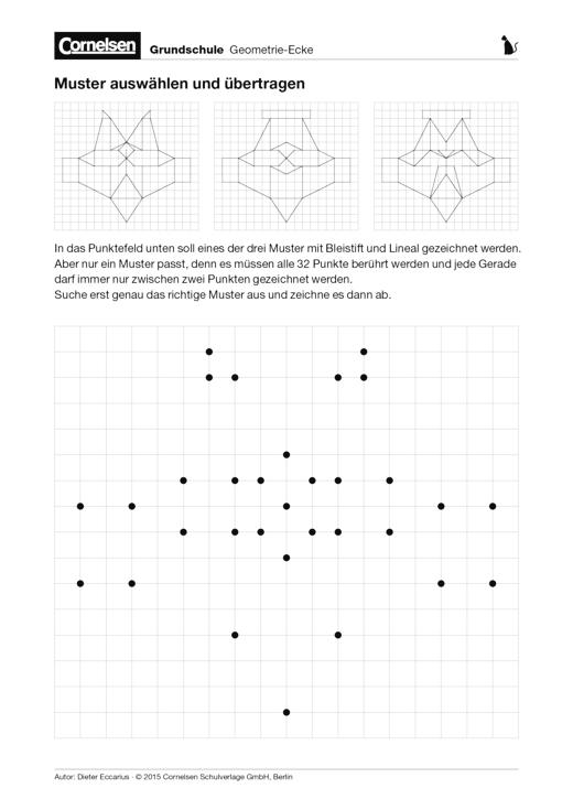 Muster auswählen und übertragen - Arbeitsblatt
