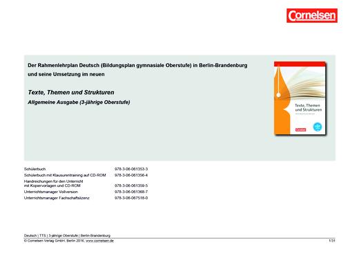 Texte, Themen und Strukturen - Planungshilfe für Berlin/Brandenburg