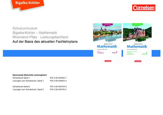 Bigalke/Köhler: Mathematik - Synopse - Leistungsfach Band 1+2