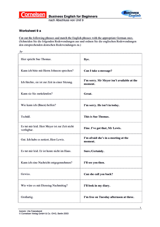Worksheet 9a Grammatik - Arbeitsblatt - Webshop-Download