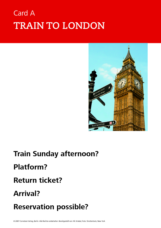 New Highlight - Train to London - Role-play card