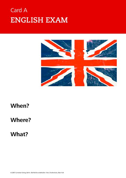 New Highlight - English exam - Role-play card - Band 1-6: 5.-10. Schuljahr
