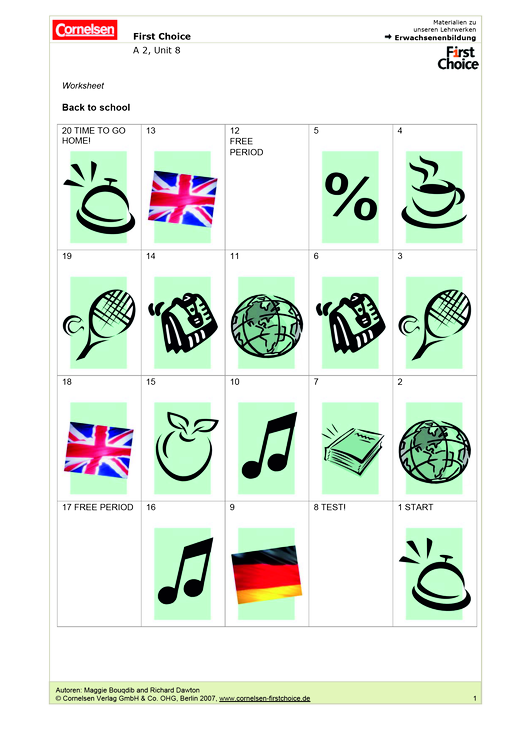 Back to school - Spiel - Webshop-Download