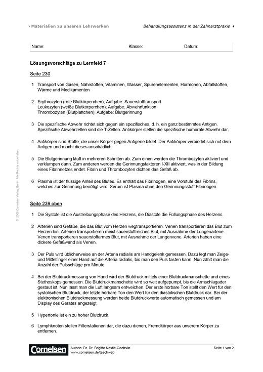 Lösungsvorschläge zu Lernfeld 7 - Lösungen - Webshop-Download