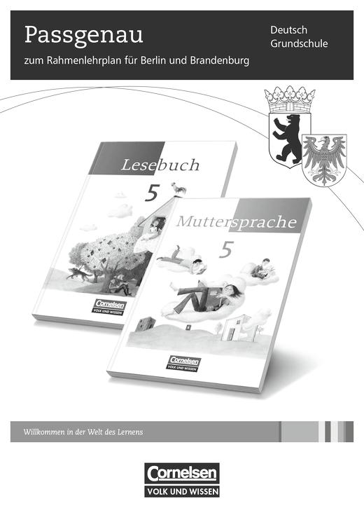 Muttersprache - Muttersprache und Lesebuch - Stoffverteilungsplan für Berlin und Brandenburg - 5. Schuljahr