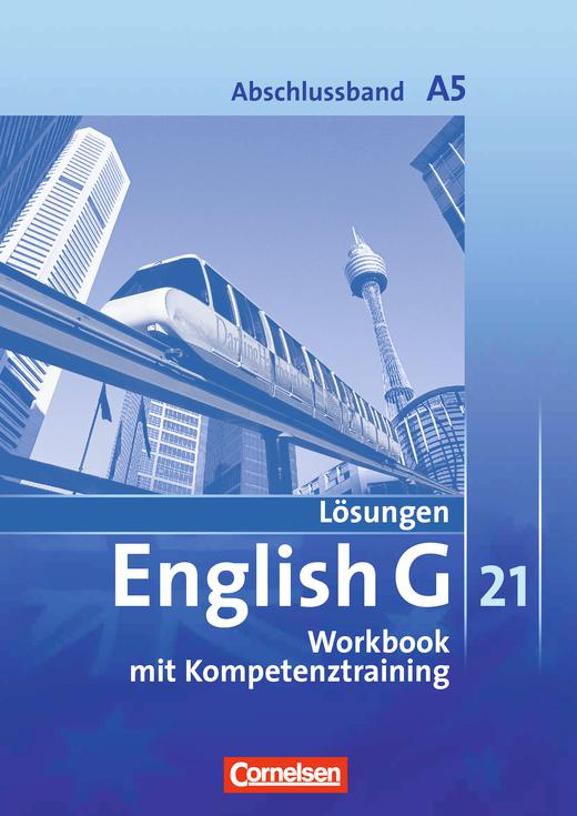 Lösungen zum English G 21-Workbook A5A - Workbook-Material - Webshop-Download