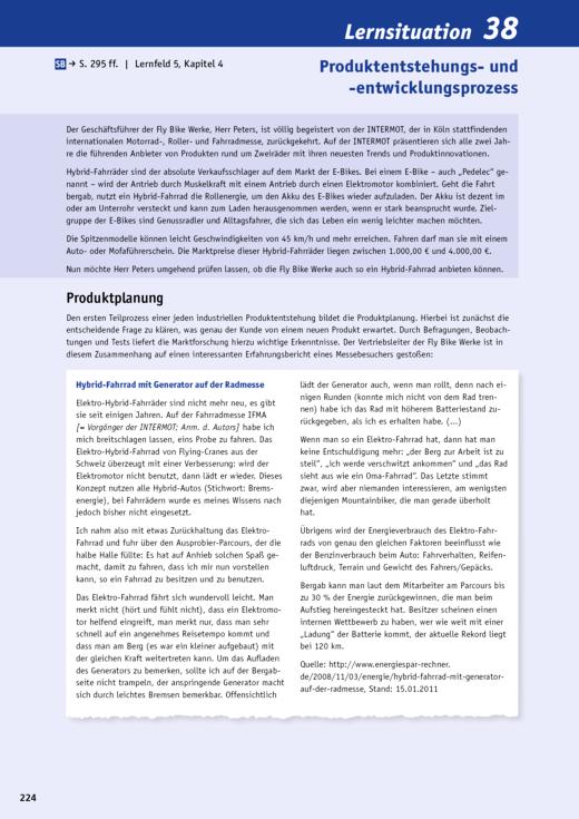 Lernsituation Produktentstehungs- und -entwicklungsprozess - Arbeitsblatt - Webshop-Download