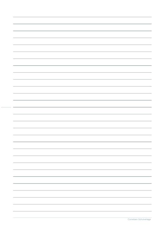 Schreibpapier 4. Klasse - Kopiervorlage