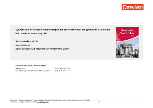 Kursbuch Geschichte - Synopse für die gymnasiale Oberstufe in Brandenburg