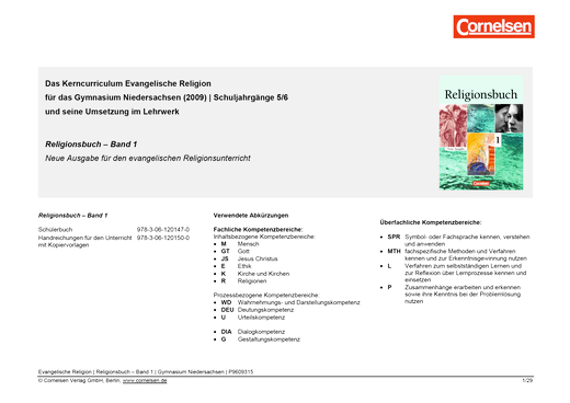 Religionsbuch - Synopse - Band 1
