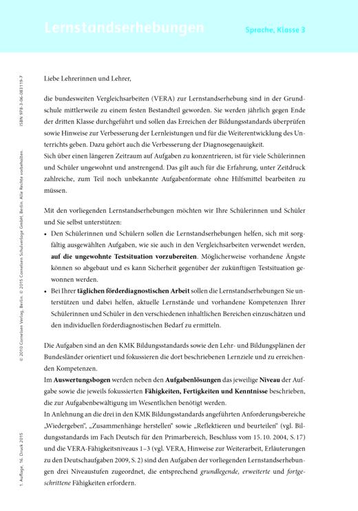 Jo-Jo Sprachbuch - Lernstandserhebungen Jo-Jo Sprachbuch Arbeitshefte 3 - Lernstandserhebung - 3. Schuljahr