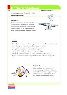 Matheknobelei: Osterhasen-Rätsel - Arbeitsblatt