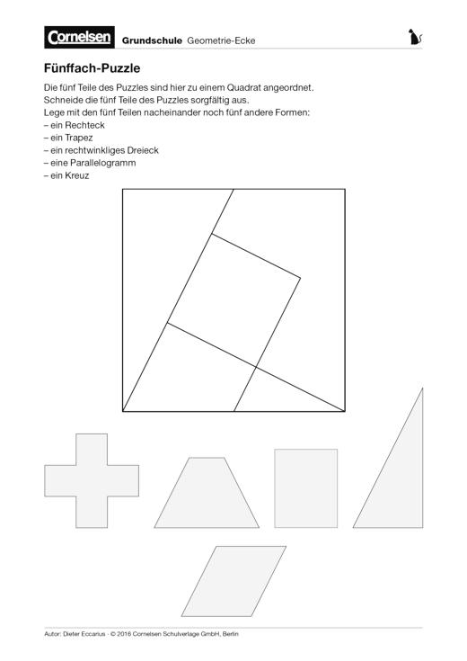 Fünffach-Puzzle - Arbeitsblatt