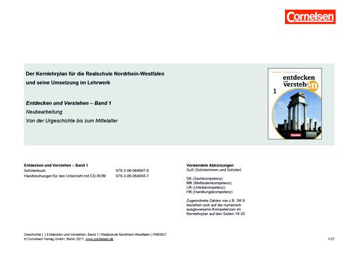 Entdecken und verstehen - Planungshilfe für Realschulen - Band 1: 6. Schuljahr