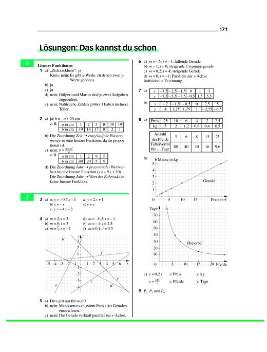 Lösungen zur Selbstkontrolle aus dem Anhang des Schülerbuches M10 - Lösungen - Webshop-Download