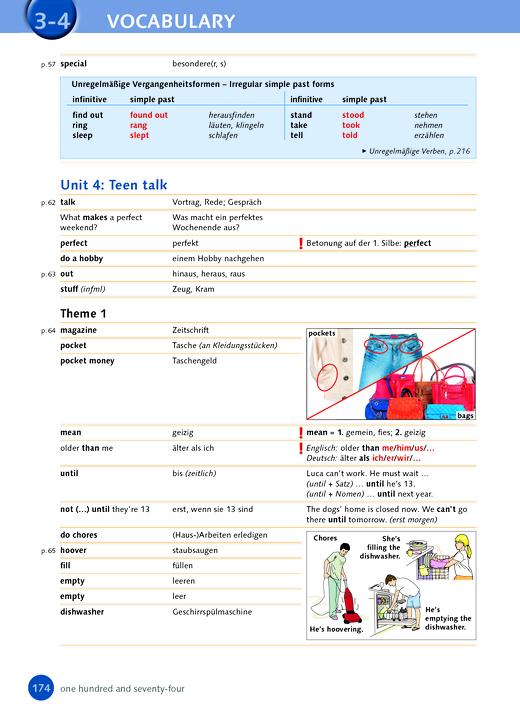 English G Highlight - Korrekturseite zum Schülerbuch S. 174 - Band 2: 6. Schuljahr