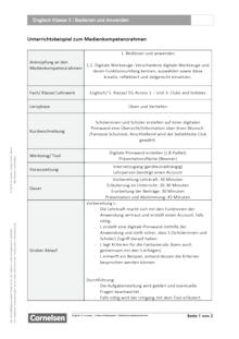 Unterrichtsbeispiel Englisch G Access Band 1 - Bedienen und Anwenden - Unterrichtsbeispiel Medienkompetenzrahmen 2