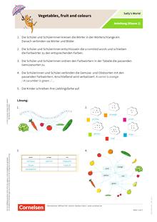 Sally - Vegetables, fruit and colours 2019 - Arbeitsblatt