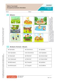 DaZ/Deutsch: Meine Traumstadt - Kompetenzorientierte Aktivitäten - Arbeitsblatt mit Lösungen