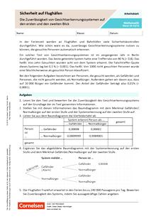 Sicherheit auf Flughäfen: Die Zuverlässigkeit von Gesichtserkennungssystemen auf den ersten und zweiten Blick - Arbeitsblatt mit Lösungen