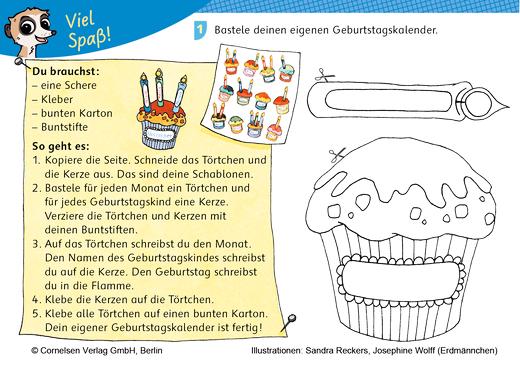 Nase von! Bastelanleitung Geburtstagskalender - Kopiervorlage