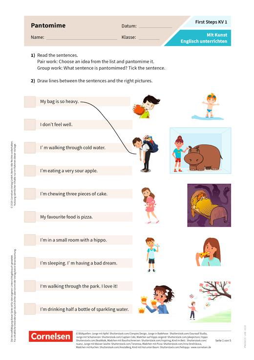 First Steps: Mit Kunst Englisch unterrichten - Arbeitsblatt
