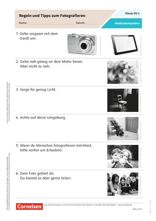 Medienkompetenzerwerb in der Grundschule - Kopiervorlagen