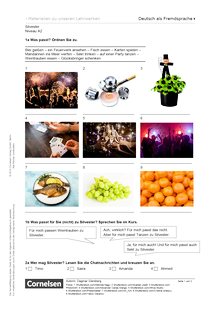 Silvester (A2) - Arbeitsblatt