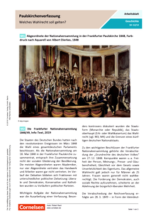 Paulskirchenverfassung: Welches Wahlrecht soll gelten? - Arbeitsblatt mit Lösungen