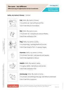 First Steps - The same – but different: Differenzierung im Englischunterricht der Grundschule - Arbeitsblatt
