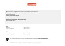 Deutschbuch Gymnasium - Planungsraster zur Medienkonzepterstellung - 6. Schuljahr