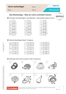 Clever nachschlagen - Wörterbucharbeit in der Grundschule - Kopiervorlagen