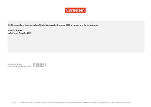 Context Starter - Planungshilfe Context Starter Hessen - Synopse