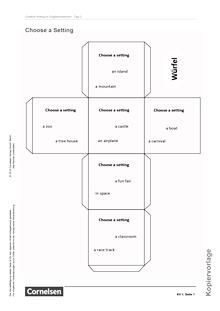 English G Lighthouse - Creative Writing: Choose a setting - Arbeitsblatt/Kopiervorlage - Band 1: 5. Schuljahr