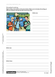 English G Lighthouse - Creative Writing: Snowball Writing - Arbeitsblatt/Kopiervorlage - Band 1: 5. Schuljahr