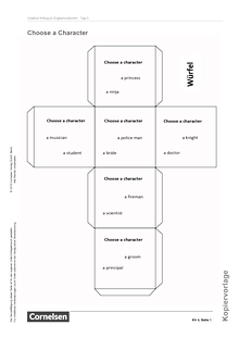 English G Lighthouse - Creative Writing: Choose a character - Arbeitsblatt/Kopiervorlage - Band 1: 5. Schuljahr