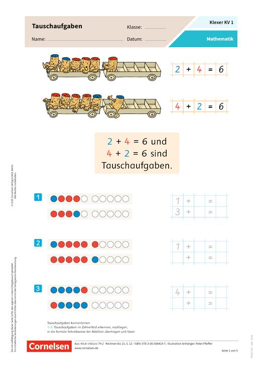 Klexer Inklusion im Mathematikunterricht - Arbeitsblatt