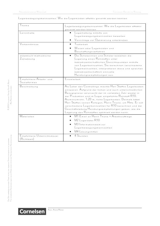 Lagerbewegungskennzahlen: Wie die Lagerkosten effektiv gesenkt werden können - Arbeitsblatt