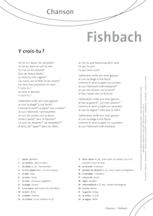 FrancoMusiques - Fishbach - Y crois-tu - Arbeitsblatt - A1/A2