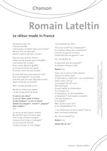 FrancoMusiques - Romain Lateltin - Le Râleur Made in France - Arbeitsblatt - A1–B2
