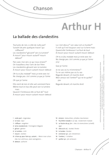 FrancoMusiques - Arthur H - La Ballade Des Clandestins - Arbeitsblatt - B1/B2