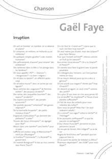 FrancoMusiques - Gaël Faye - Irruption - Arbeitsblatt - B2/C1