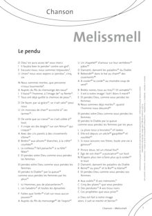 FrancoMusiques - Melissmell - Le Pendu - Arbeitsblatt - B2/C1