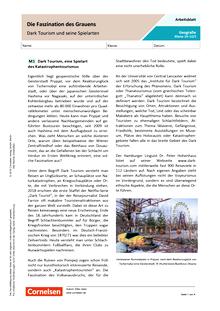 Die Faszination des Grauens - Dark Tourism und seine Spielarten - Arbeitsblatt mit Lösungen