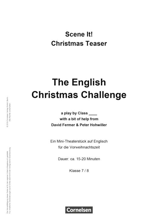 Scene it! - Scene it! Christmas teaser - The English Christmas Challenge - Kopiervorlage - 7./8. Schuljahr
