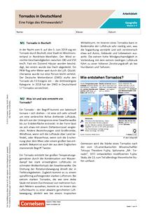 Tornados in Deutschland - Eine Folge des Klimawandels? - Arbeitsblatt mit Lösungen